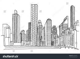 new york skyline black white vector stock vector 640083826