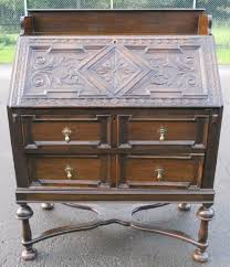 oak writing bureau uk carved oak writing bureau 249595 sellingantiques co uk