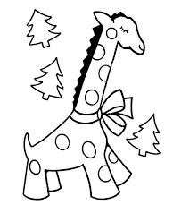 learning christmas coloring pages giraffe christmas