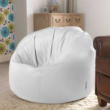 white leather bean bag u2014 home ideas collection ideas of a