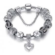 white gold plated charm bracelet images 18k white gold plated crystal heart charm bracelet made with jpg