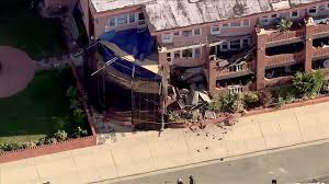 Balconies Long Beach Police Multiple Balconies Collapsed Tuesday At