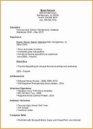 resume exles for college student first job resume template for high student with no experience