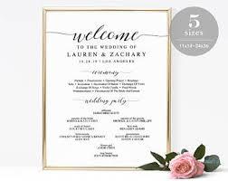 Wedding Program Board Wedding Program Sign Etsy