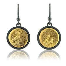 giraffe earrings oxidised silver giraffe earrings by lowe jewellery