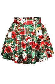 christmas skirt womens christmas items printed pleated skirt pink