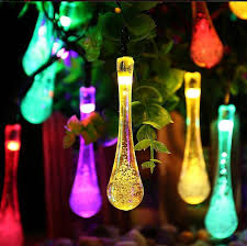 water droplets style multi color light solar fairy string light