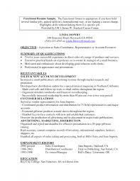 Resume For Career Change Template For Functional Resume Sample Functional Resume