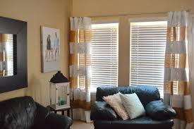 Striped Living Room Curtains by A Diy Life Diy Striped Burlap Curtains