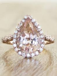 morganite pear engagement ring jelissa pear shaped morganite engagement ring ken design