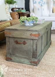pottery barn knock off trunk coffee table follow the video