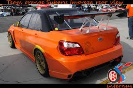 orange subaru wrx subaru impreza orange rear by janmarkelj on deviantart