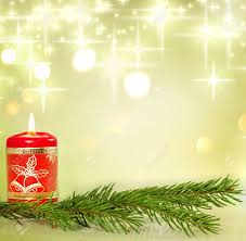 christmas candle and holly background concept stock photo picture