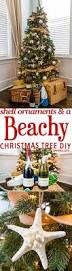 quick and easy seashell ornaments and a beach themed tree sweet