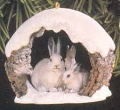 1997 majestic wilderness 1st snowshoe rabbits in winter hallmark