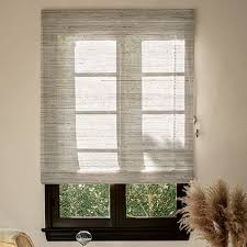 Roman Shade With Curtains Custom Roman Shades Available In A Variety Of Fabrics U0026 Styles