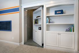 Secret Door Bookcase Chicago Safe Room Doors Basement Traditional With Bookcase Secret