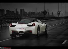 Ferrari 458 Black And White - ferrari 458 italia mumbai novitec rosso team bhp