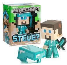 diamond steve minecraft vinyl figure diamond steve