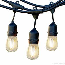 cheap outdoor commercial string lights 48 feet heavy duty