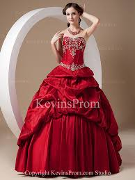 corset winter embroidered strapless ball gown classic apple red