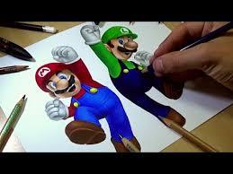 drawing mario luigi