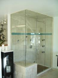 double shower with seat and timber floor bathroom pinterest