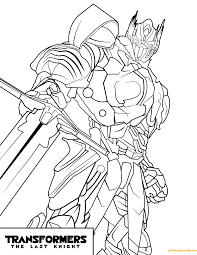 transformers optimus prime the last night coloring page free