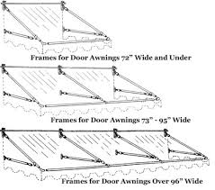 Retractable Awning Parts Canvas Door Awnings High Quality Made With Sunbrella Fabric Pyc