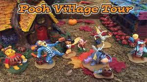 disney halloween village winnie the pooh halloween village tour vlog haunted hundred acre