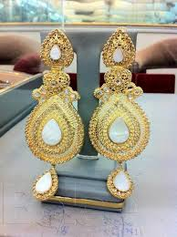 gold earrings price in pakistan of 22 karat gold plated artificial jewellery at most reasonable
