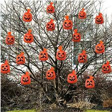 20 halloween decorations orange hanging pumpkin haunted spooky