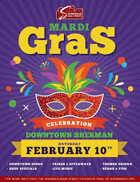 mardi gras bingo mardi gras in downtown sherman texoma connect