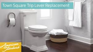 how to replace a trip lever for a town square toilet youtube