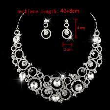 silver crystal vintage necklace images Luxury exquisite bridal jewelry sets 925 sterling silver crystal jpg