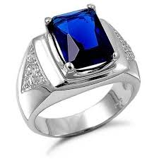 stone rings style images Blue sapphire rings for men 2013 jpg