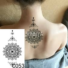 19x12cm waterproof temporary tattoo stickers women body art tatoo