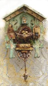 Beautiful Clocks by Cuckoo Clock Assemblage Altered Art Great Now I Need To Find