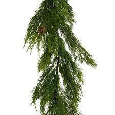 65 cedar evergreen pine garland green 2833008gr craftoutlet