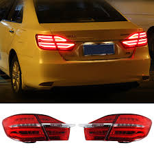 2015 toyota camry tail light newest car led rear lights drl tail light rolling turning signal for