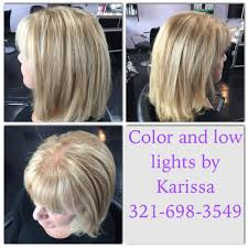 exclusive transformation color highlights blonde layers cut