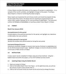 how to write a monthly report template sle monthly report template 13 free documents in word pdf