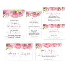 rustic floral wedding invitation do it yourself printable template