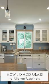 glass kitchen cabinet doors diy how to add glass to kitchen cabinet doors glass kitchen