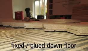 Laminate Flooring Glue Down Floating Or Fixed Wood Floors Pros And Cons Wood Floor Fitting