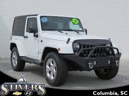 white jeep sahara 2 door used 2015 jeep wrangler sahara 4x4 suv for sale in columbia sc ph1040a