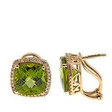 peridot earrings peridot earrings hsn