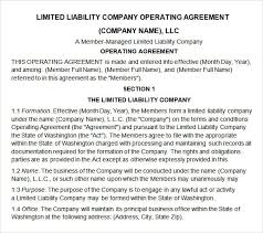 llc partnership agreement template template design