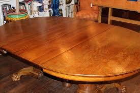 Antique Round Oak Pedestal Dining Table Large Antique Oak Pedestal Dining Table At 1stdibs