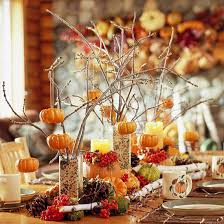 centerpiece and tabletop decoration ideas for fall pumpkin tree